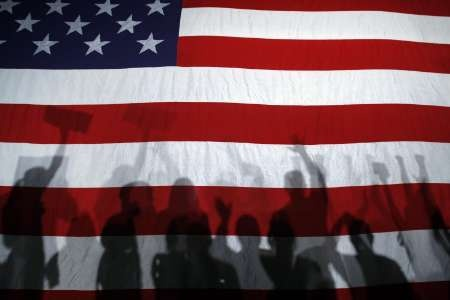 Vlajka USA. Sn�mka: Reuters