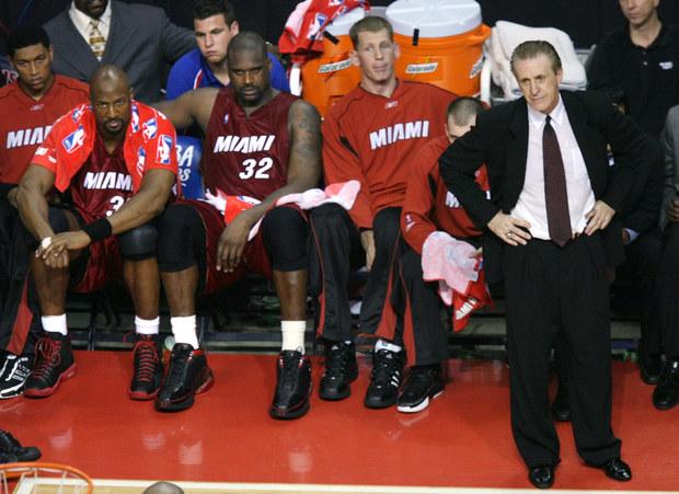 Tréner Miami Heat Pat Riley (vpravo)