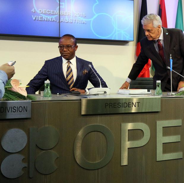Nigerijský ropný minister a prezident OPECu Emmanuel Ibe Kachikwu